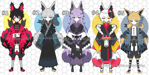 Kitsune adoptables open by AS-Adoptables