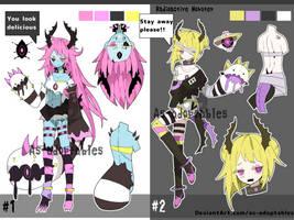 Radioactive Monster girl adoptables open