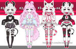 Goth Kemonomimi adoptables open by AS-Adoptables