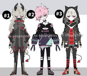Goth demon adoptables open