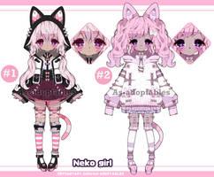 Neko girl adoptables Closed