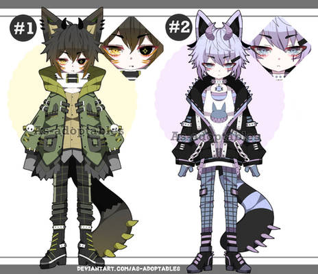 Pastel goth Kemonomimi adoptables closed