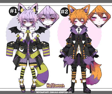 Halloween Kemonomimi adoptables closed