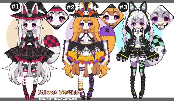 Halloween Kemonomimi adoptables close