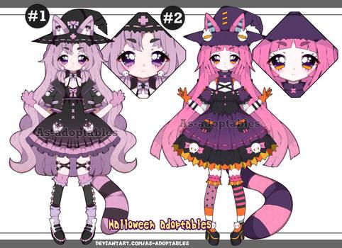 Pastel goth witch Kemonomimi adoptables closed