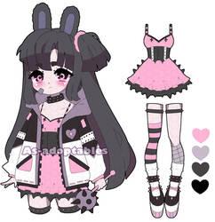 Pastel goth bunny  adoptable closed