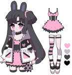 Pastel goth bunny  adoptable closed