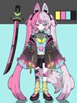 Cyberpunk oriental kemnomimi adoptable closed