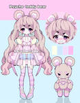 Psycho teddy bear adoptable closed