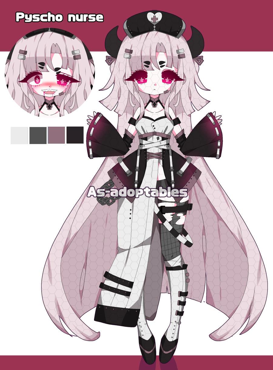 Psycho nurse demon adoptable closed