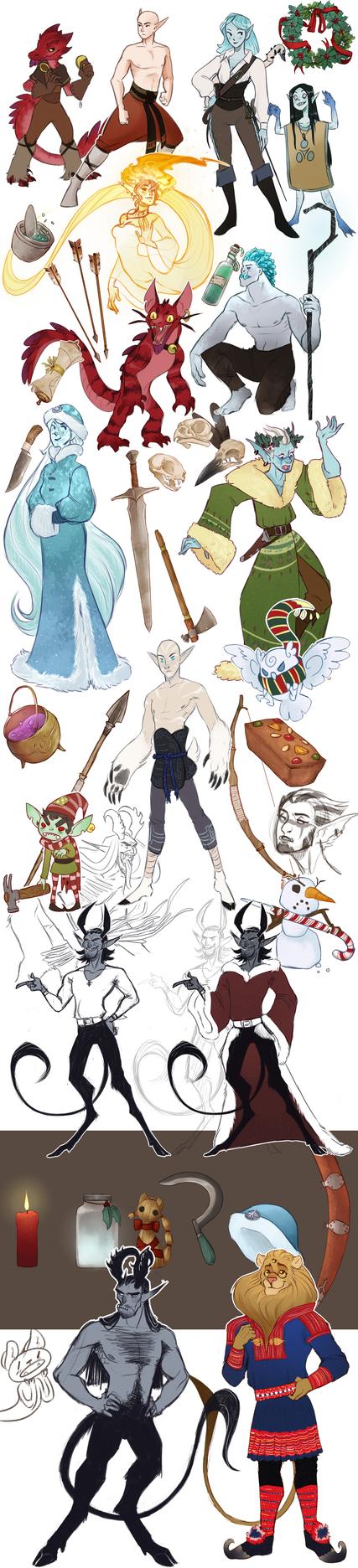 sketchdump! (18-12-16) by Riurekai