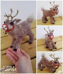 Reindeer art doll 'Ruska' by LisanOtuspaja
