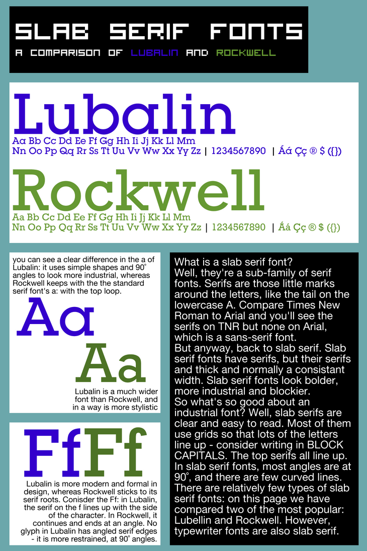 Lubalin and Rockwell by wimwim