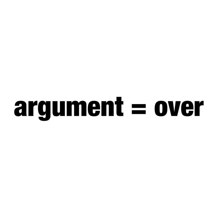Argument Tee by wimwim