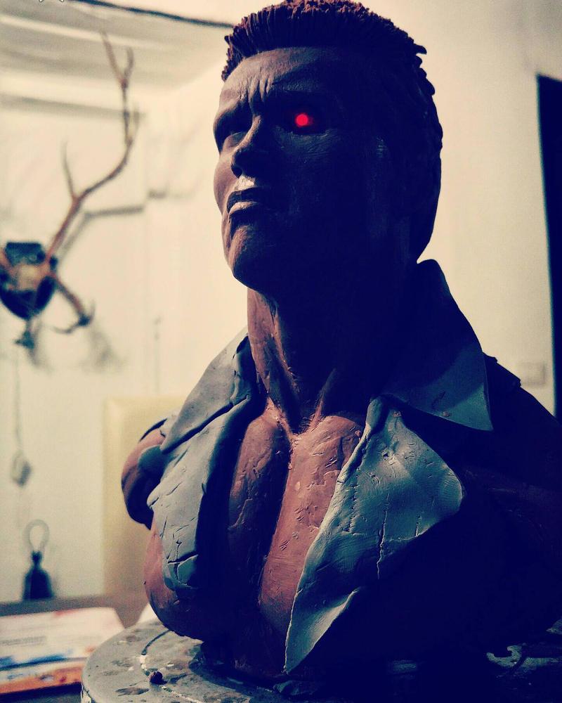 Terminator 1984 1:3 bust! by zArFx