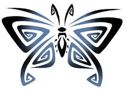 Tattoos On Upper Back. butterfly tattoos on upper back. tribal utterfly tattoo design
