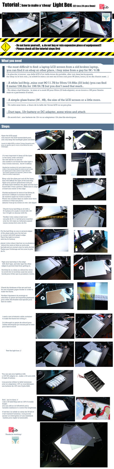 Flat And Portable LightBox Tutorial by onwa7