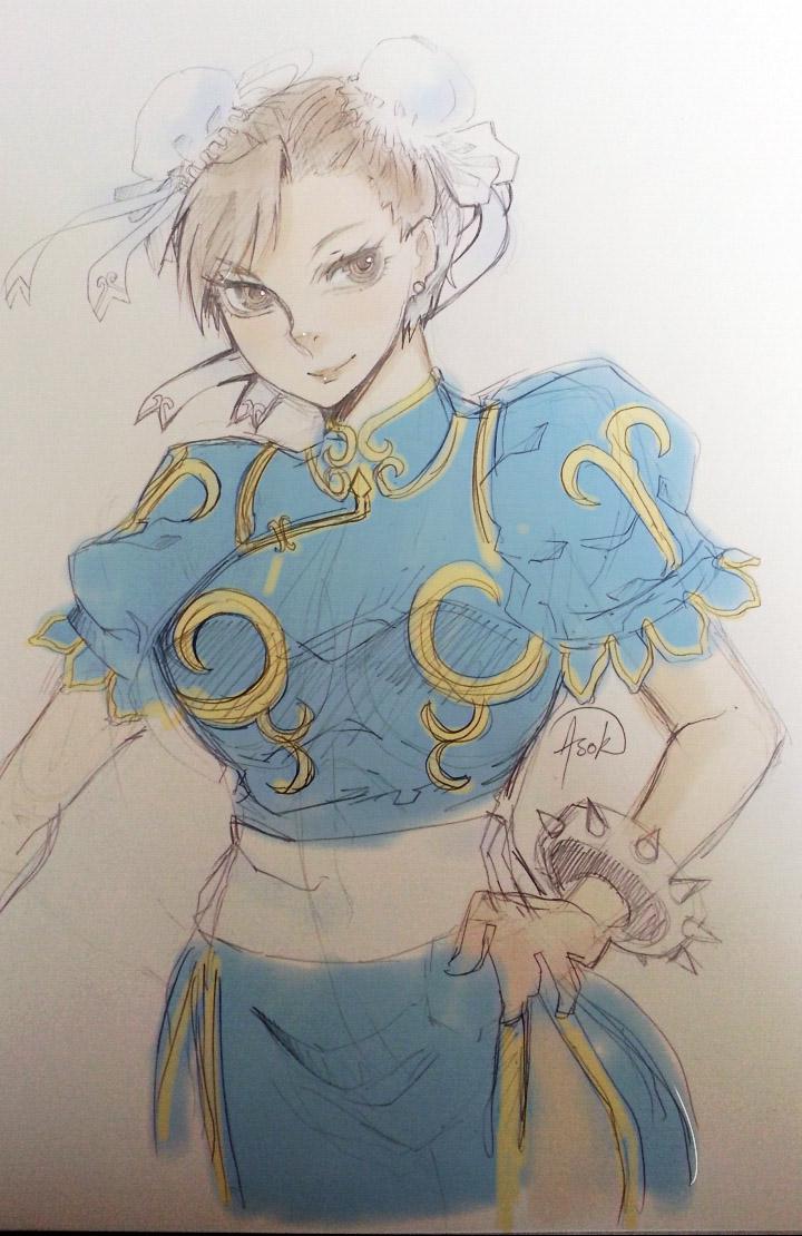 chunli doodle by onwa7