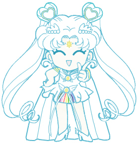 sailor cosmos manga  Sailor Cosmos chibi by