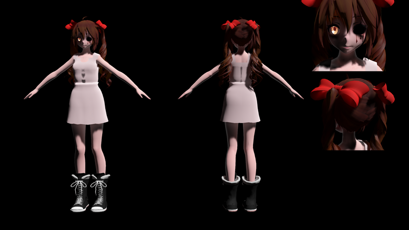 Hanged Sophie fullbody by MMD1lover1