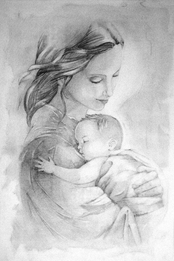 matka z dzieckiem by ArtiArt Z cyklu   Zamyślenia z uśmiechem ;)