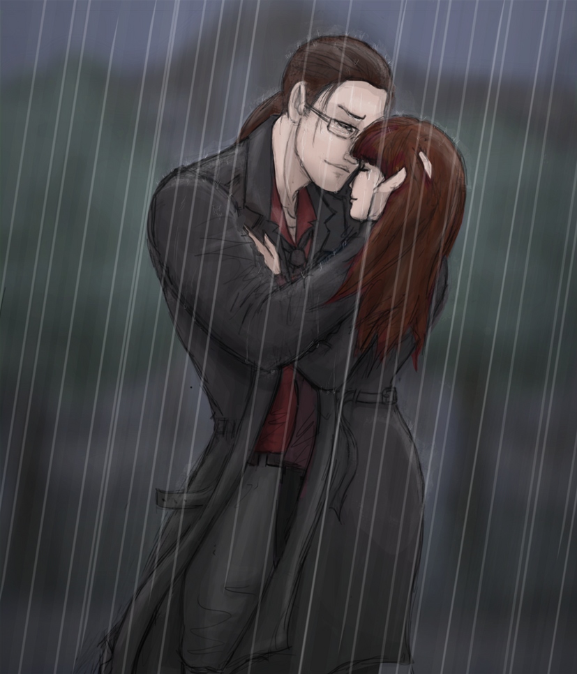 A Moment in the Rain by Drakarra