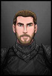 Commission: Magnus Brand, Paladin of the Morrigan
