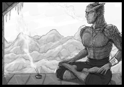 Inktober 4 - Chilled Calm