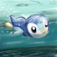 393 Piplup by Ipaintpokemon