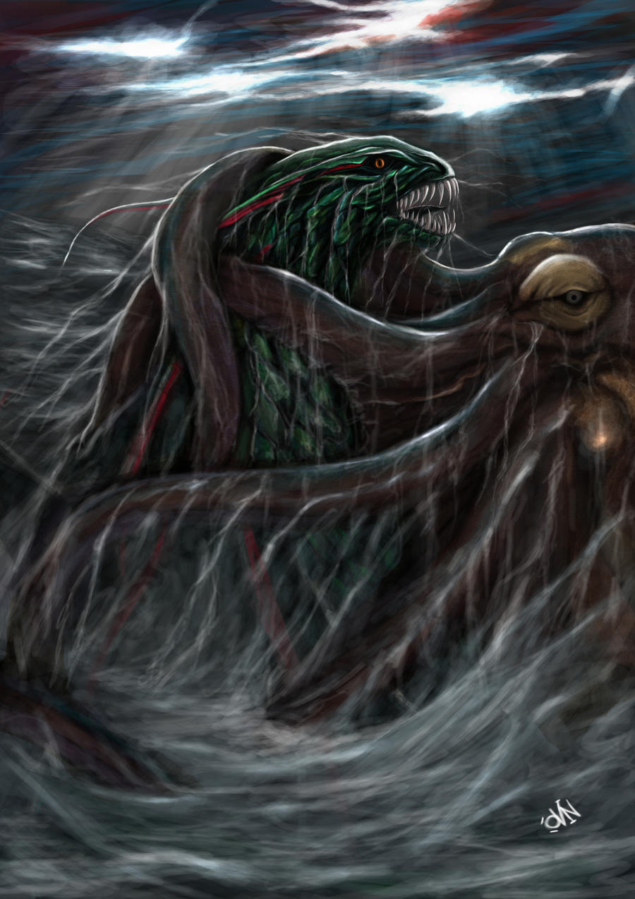 Leviathan vs Kraken by grimmreaper60 on DeviantArt