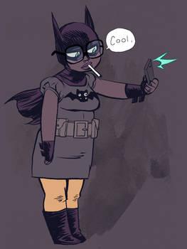 Chubby Hipster Batgirl by Nate Bellegarde