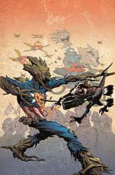 Rocket vs Groot: Last Slice by Sandford Greene by whoisrico