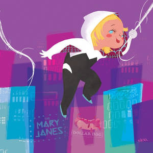 Mary Blair inspired Spider-Gwen (no mask)