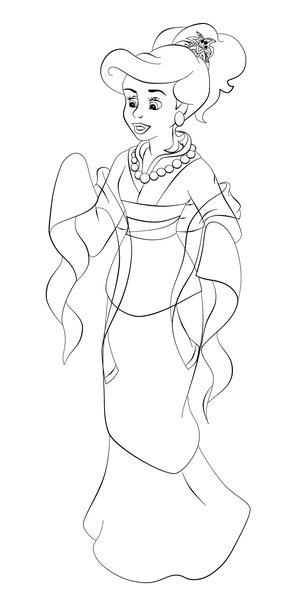 coloring pages disney ariel. Ariel as Mulan