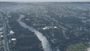 Aerial view from the Maradyke Sports Ground.-