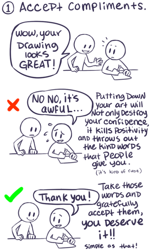 How to be more confident about your art by jollymutt on deviantart tumblr n8xlk6xjdm1rxqu94o1 540 by jollymutt ccuart Images