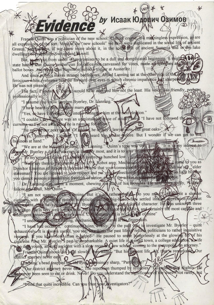 1st Page Of Evidence Doodled by ECAsCLOUD