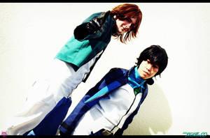 Lockon and Setsuna by NekoFlameAlchemist