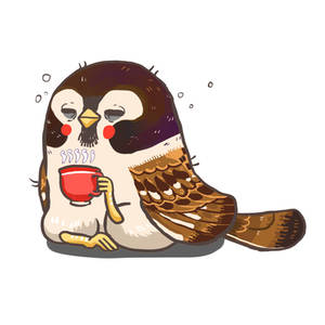 me with coffee