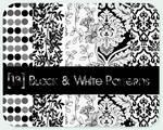 black - white patterns