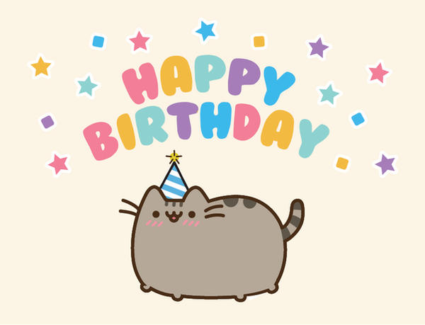 Pusheen Birthday Card by beccyboo-412 on DeviantArt