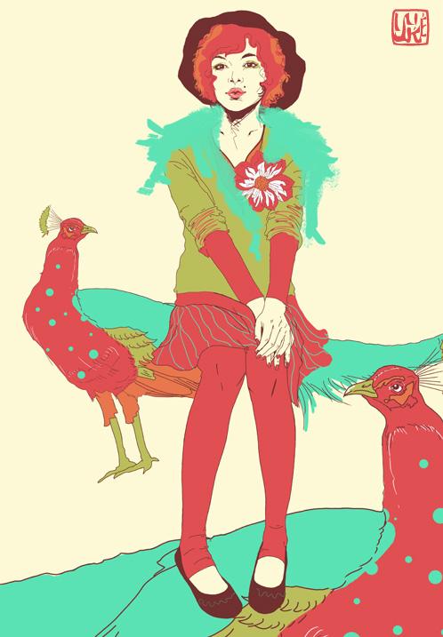 peacock by yuke