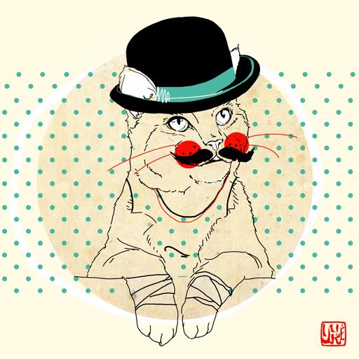 Moustache cat by yuke