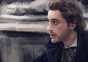 Robert Downey jr. as Sherlock by Rochnan