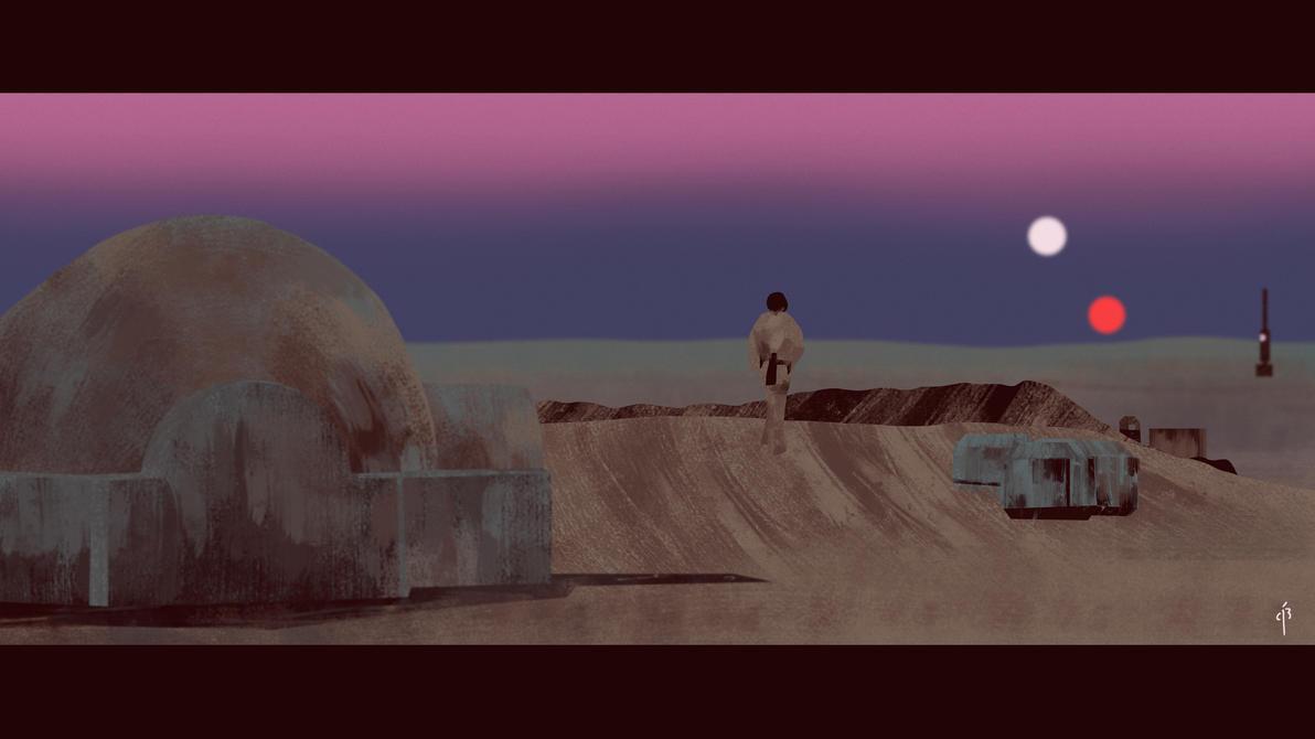 Binary Sunset by Rochnan