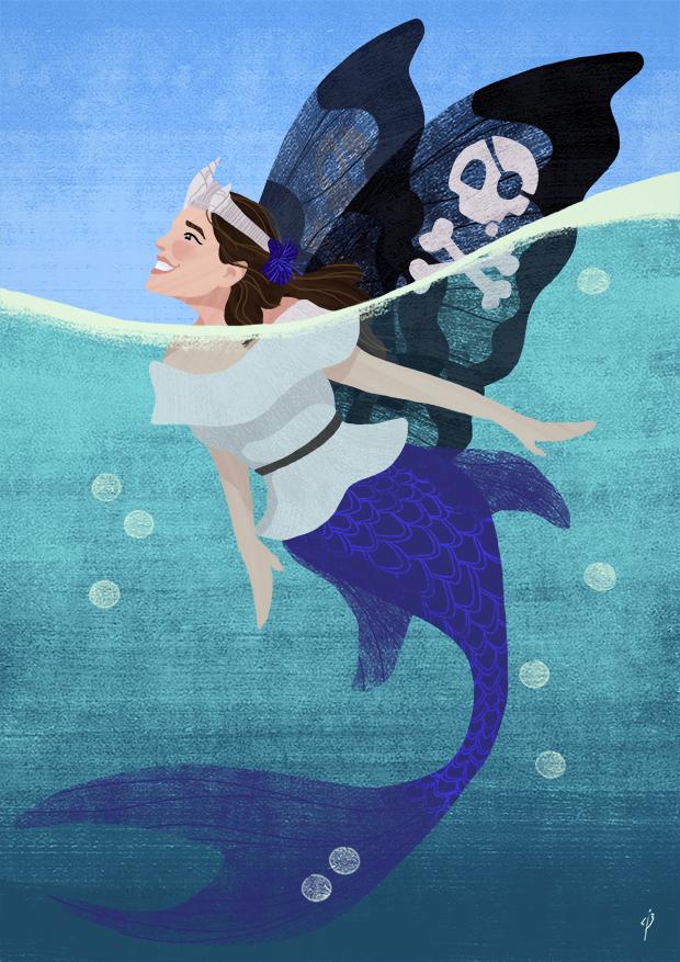 Carrie the mermaidfairypirateprincess by Rochnan