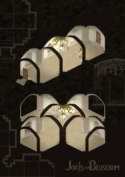 Dungeon corridors flat
