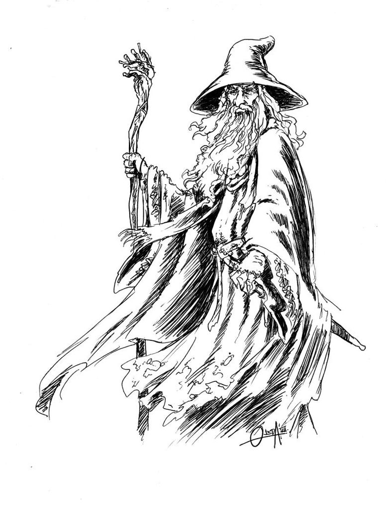 gandalf coloring pages - photo#7