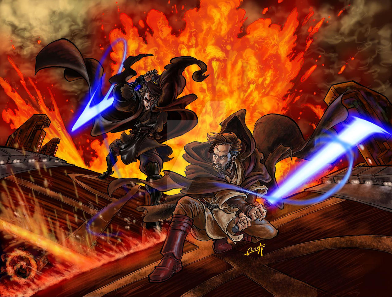 Obi-wan vs Anakin by mistermoster