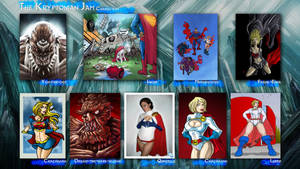 Kryptonian Jam characters by mistermoster